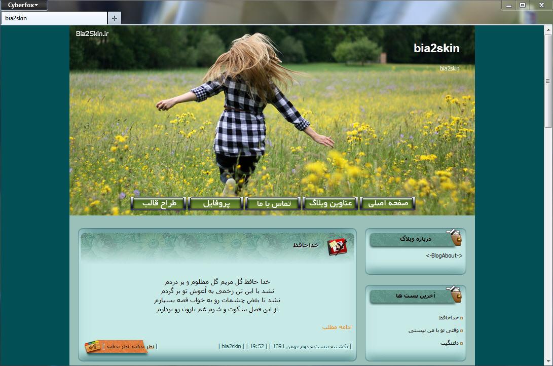 بهترین قالب های وبلاگ دخترانه