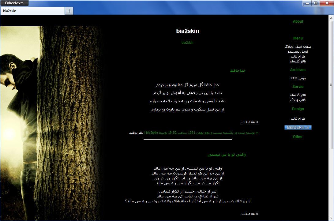 قالب وبلاگ دو ستونه پسر تنها در جنگل