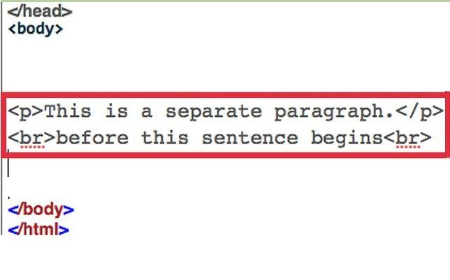 تگ های پاراگراف P , Br در html